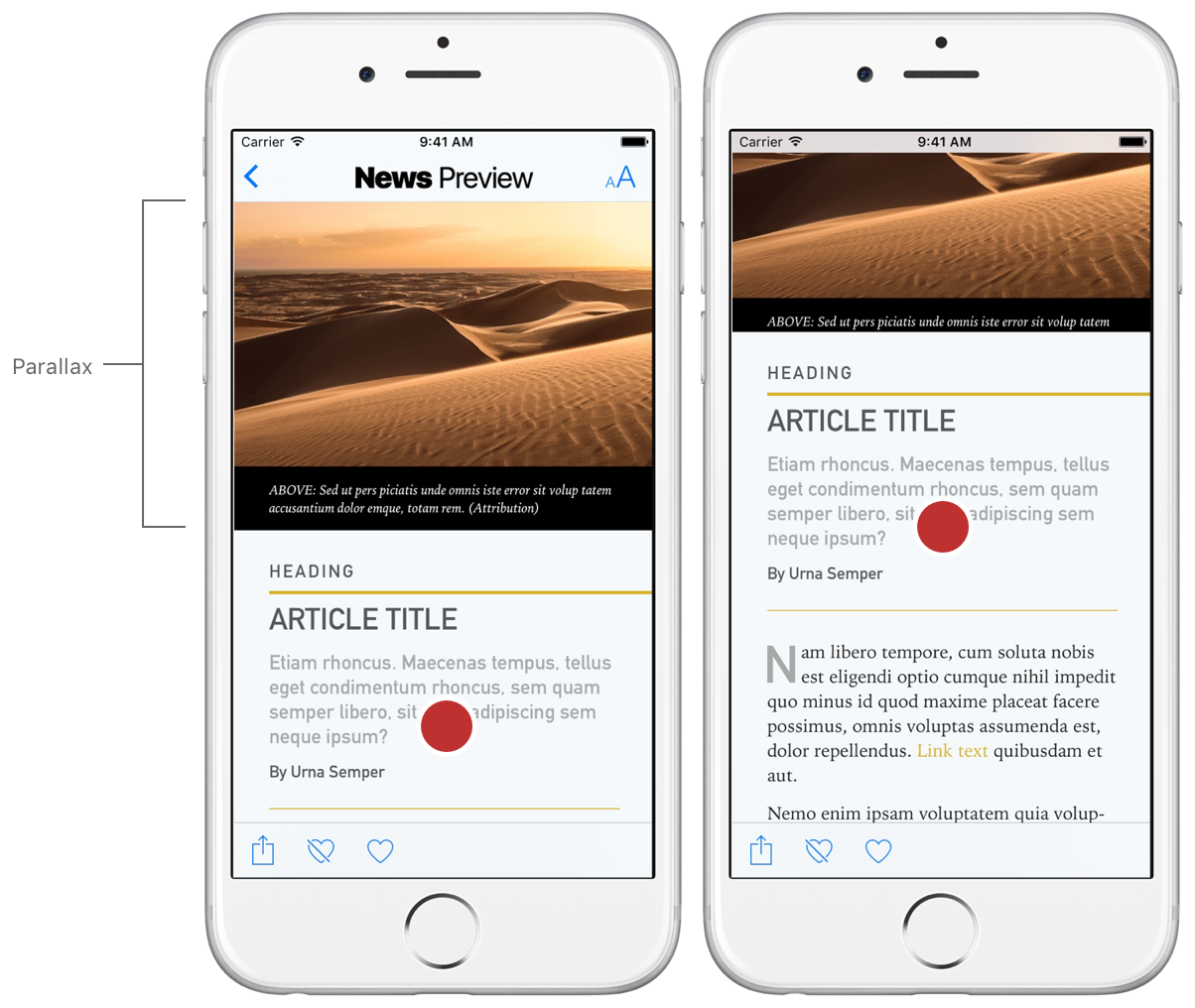 Adding Parallax Behavior   Apple Developer Documentation