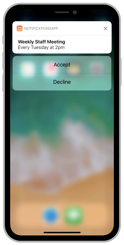 Declaring Your Actionable Notification Types | Apple