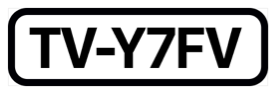 The phrase T V dash Y seven F V, inside a black rectangle with rounded corners.