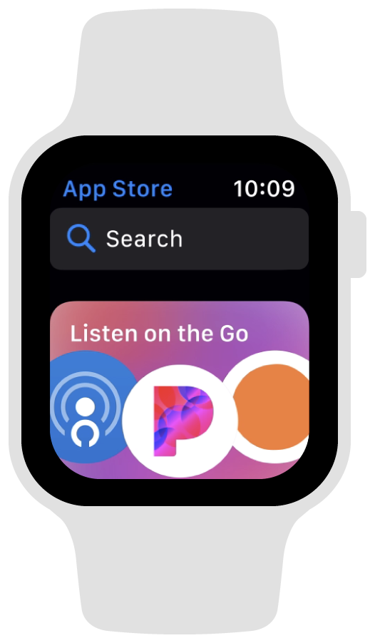A screenshot of the App Store on Apple Watch.