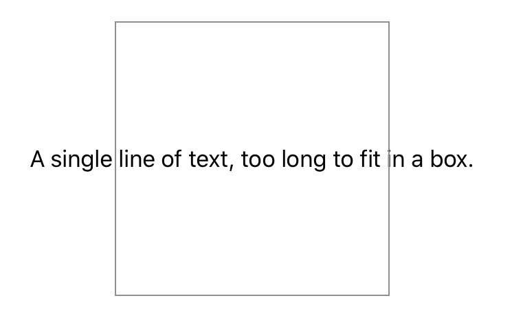 A screenshot showing a text view exceeding the bounds of its parent.