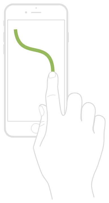 A diagram depicting a user triggering a free-form custom continuous gesture recogniser
