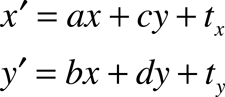 Transformation equations.