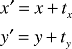 Translation equations.