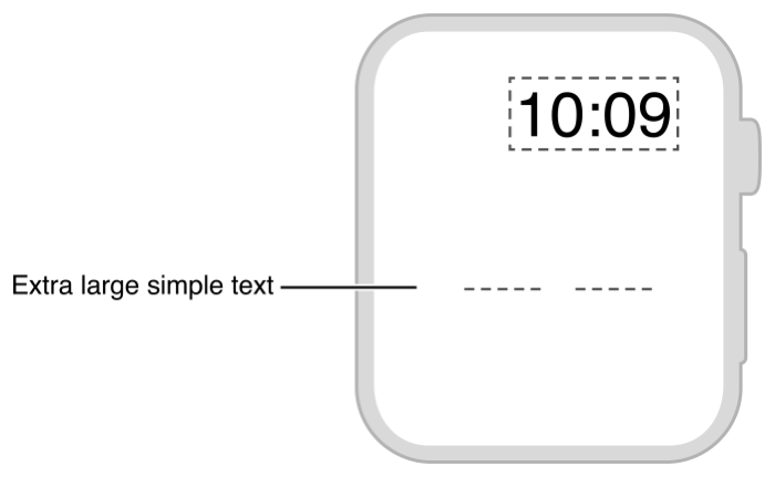 Diagram showing the layout of a small amount of text.
