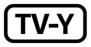 The phrase T V dash Y, inside a black rectangle with rounded corners.