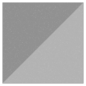 Image of white dots on a transaprent background, used to simulate grain on an old photo