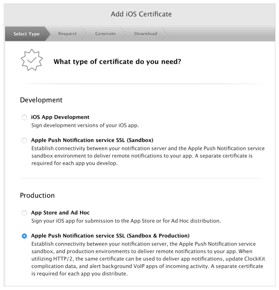 Establishing A Certificate Based Connection To Apns Apple