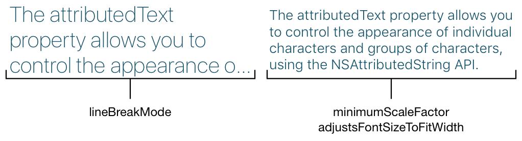 Automatic font size adjustment