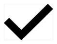 A black check mark.