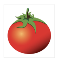 A drawing of a tomato.