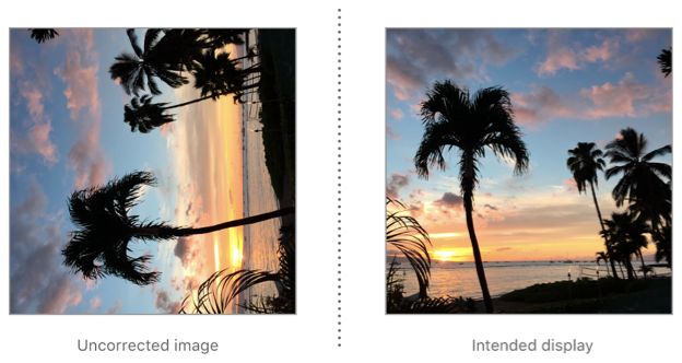 UIImage rotates an image with right orientation for correct display