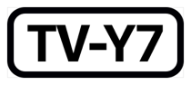 The phrase T V dash Y seven, inside a black rectangle with rounded corners.