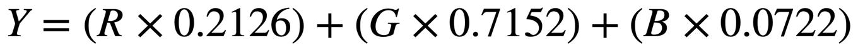 Rec. 709 color to luma formula